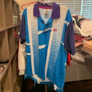 VTG Nike Challenge Court Tennis Collared Shirt